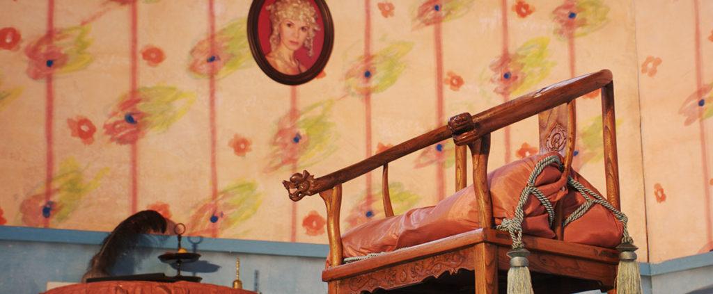 Kindertheaterstück: Die Prinzessin und das Küchenmädchen.